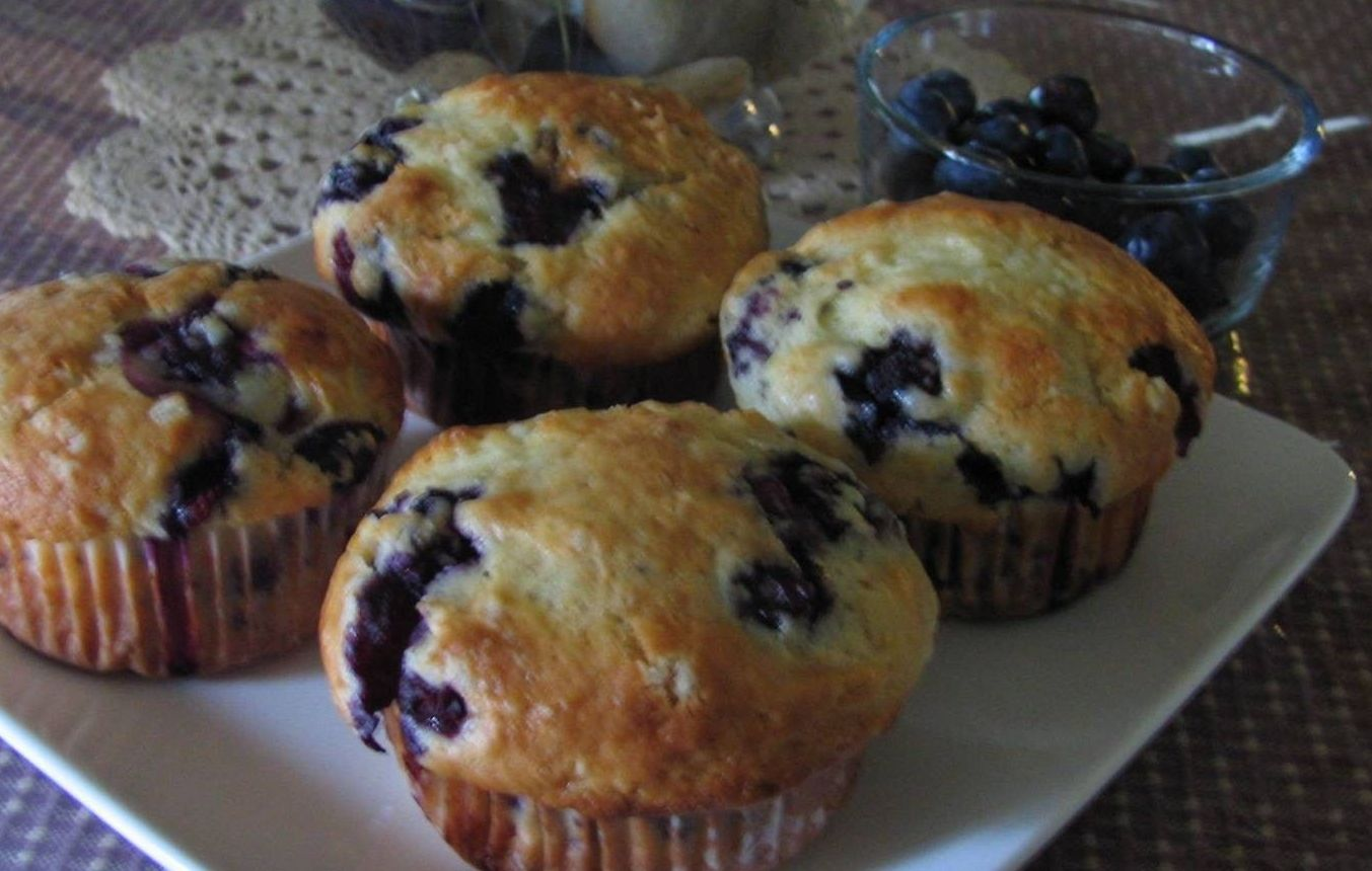 Gâteau de café aux bleuets faible en gras