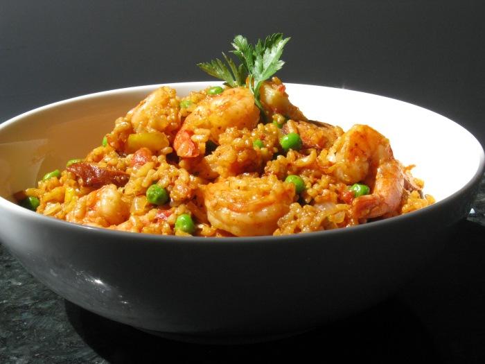 saffron paella recipe