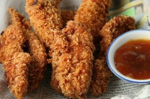 chicken fingers panko