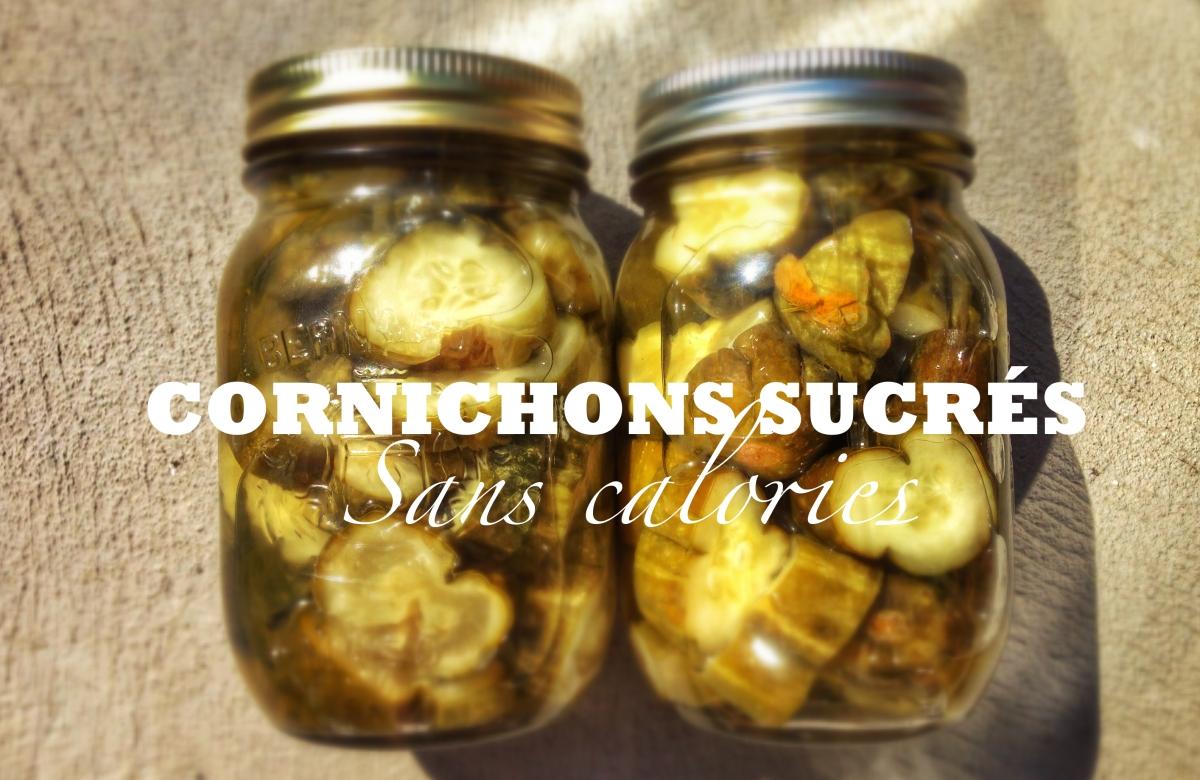 Cornichons marinés sucrés (sans calorie)