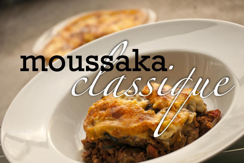Moussaka grecque traditionnelle recette de base - Cuisine grecque traditionnelle ...